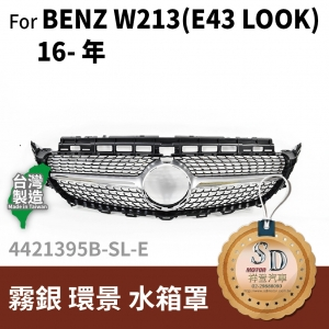 FOR Mercedes BENZ E class W213 16- 年 霧銀 環景 水箱罩